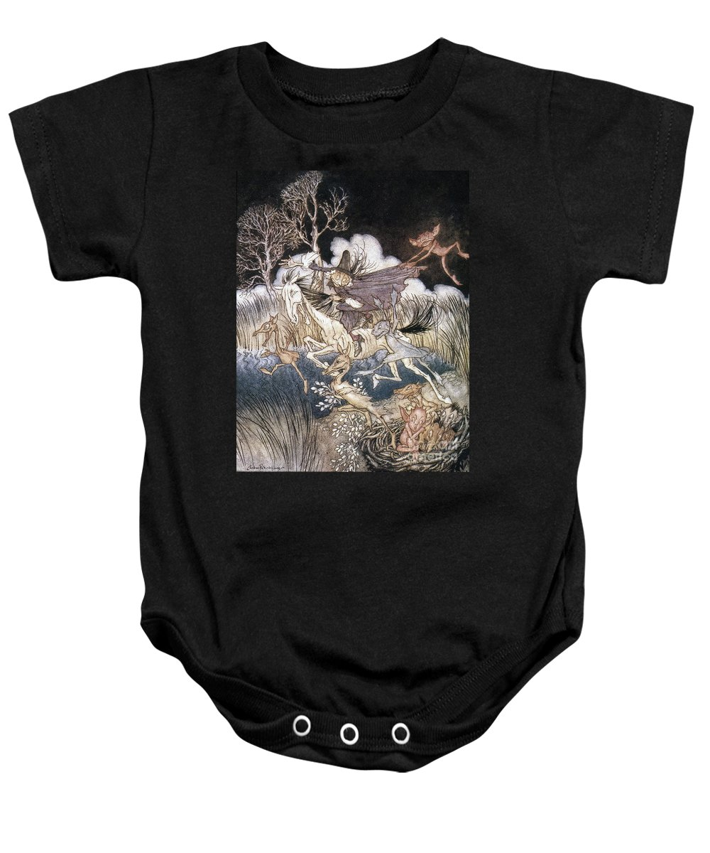 1928 Baby Onesie featuring the photograph Spirits In Sleepy Hollow by Granger