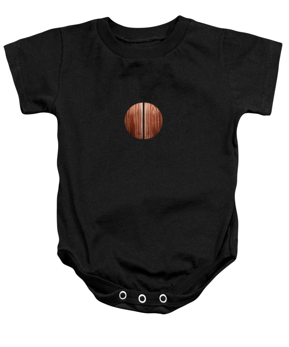 Block Baby Onesie featuring the photograph Split Circle Red by YoPedro