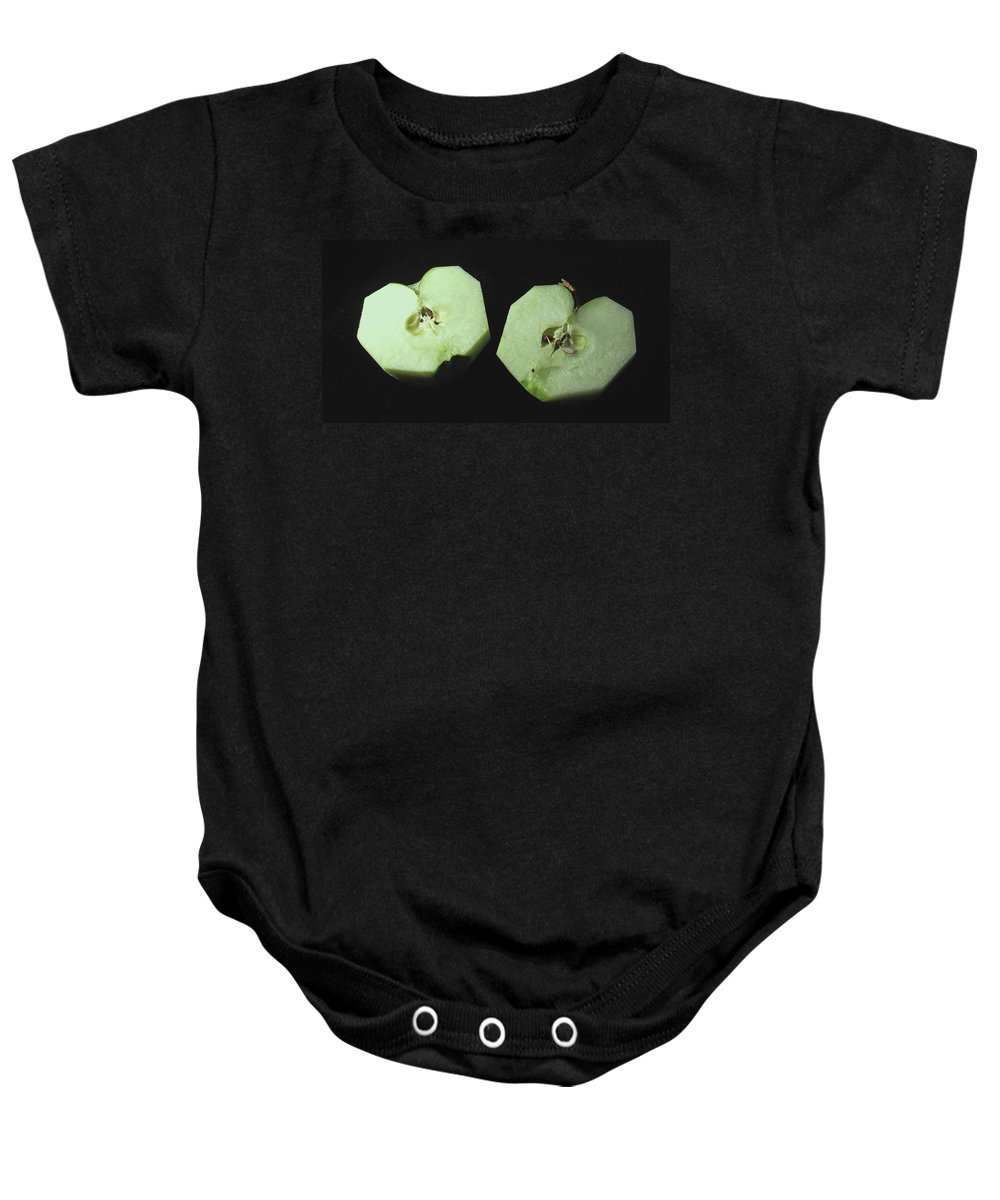 Apple Baby Onesie featuring the photograph Split by Ian MacDonald