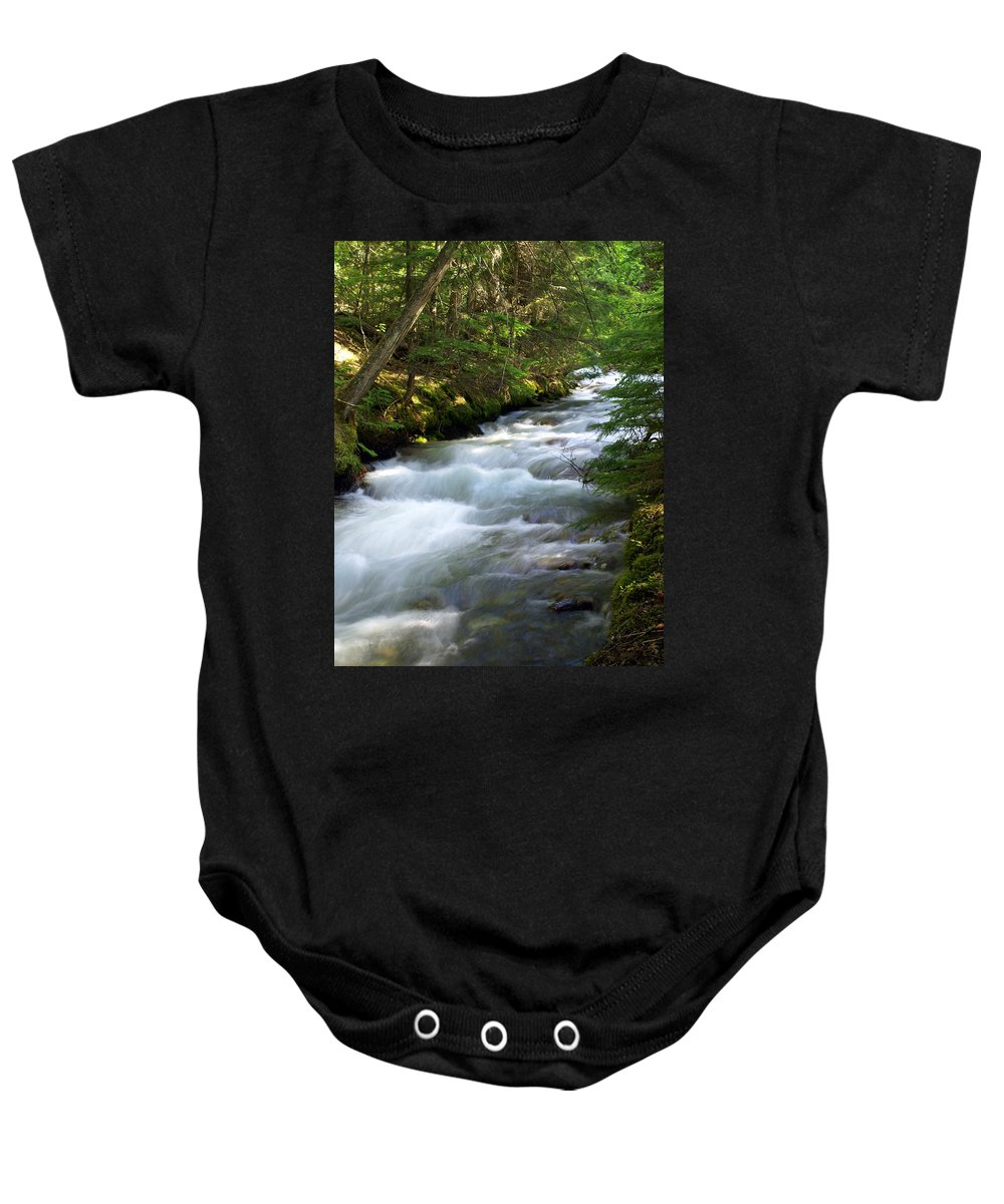 Glacier National Park Baby Onesie featuring the photograph Sprague Creek Glacier National Park 2 by Marty Koch