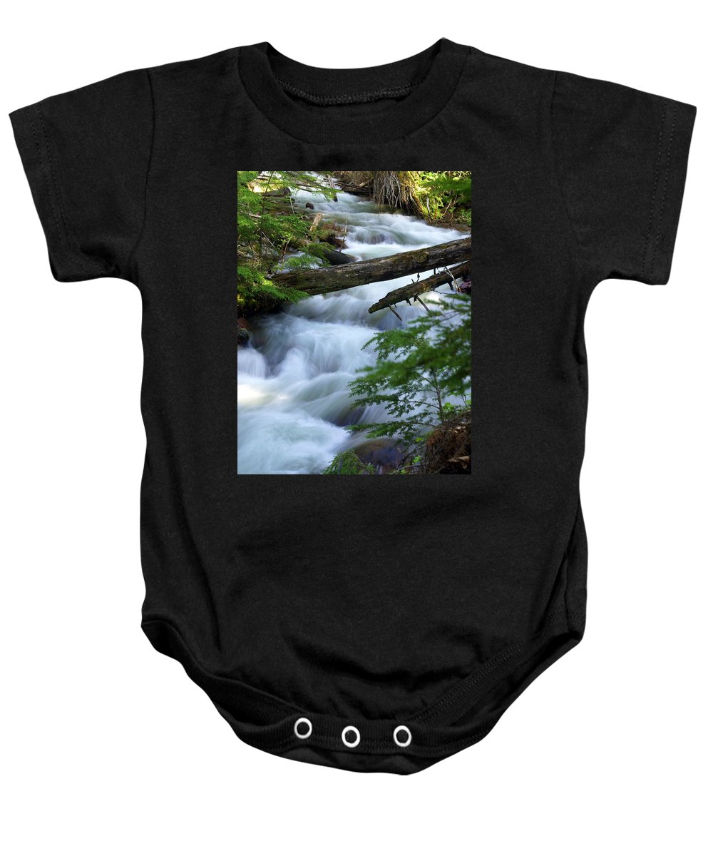 Glacier National Park Baby Onesie featuring the photograph Sprague Creek Glacier National Park by Marty Koch