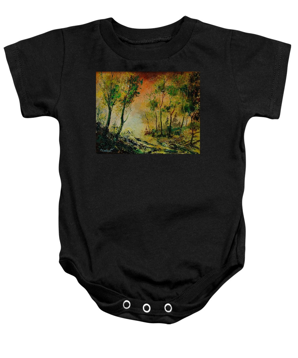Spring Baby Onesie featuring the painting Sprin In Wood 45 by Pol Ledent