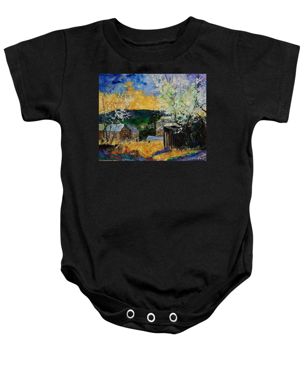 Spring Baby Onesie featuring the painting Spring 45 by Pol Ledent