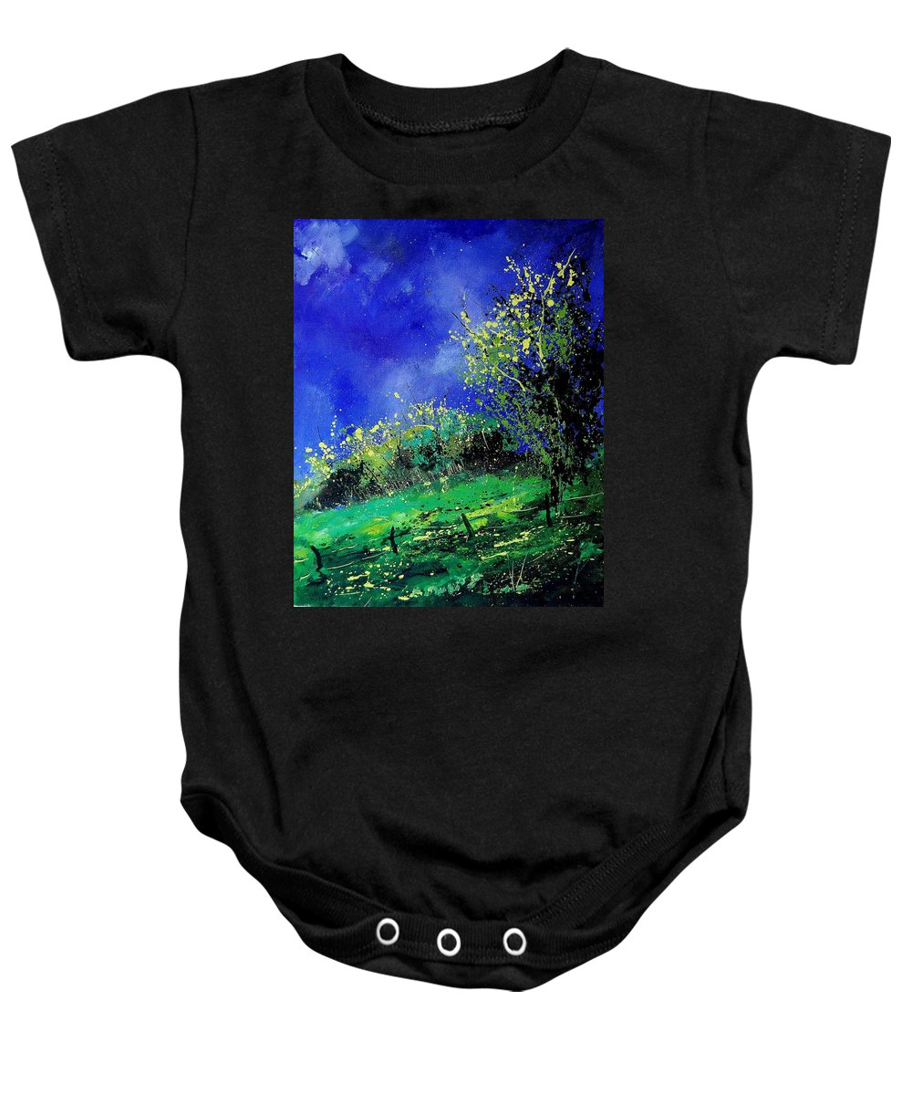 Spring Baby Onesie featuring the painting Spring 459060 by Pol Ledent