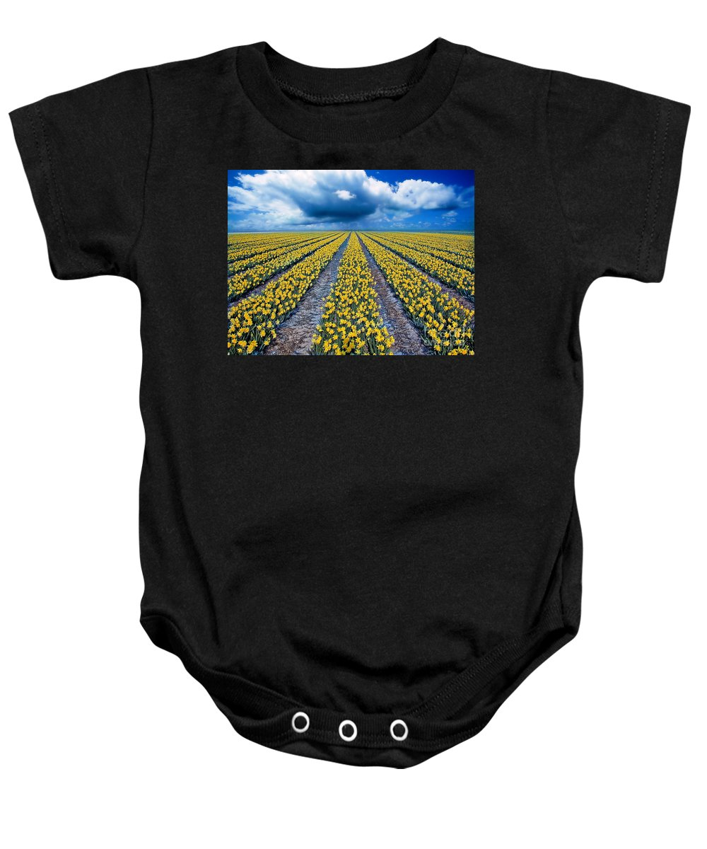 Flowers Baby Onesie featuring the photograph Spring Fields by Jacky Gerritsen