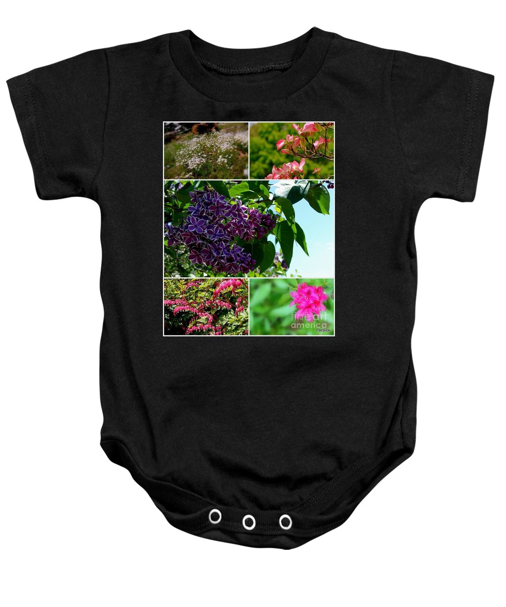 Lilacs Baby Onesie featuring the photograph Spring Glory by Priscilla Richardson