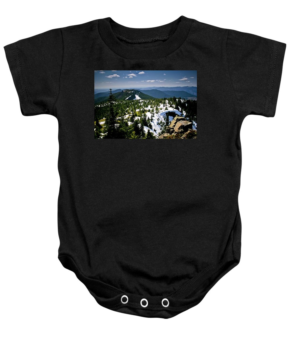 Spring Baby Onesie featuring the photograph Spring In The Cascades by Albert Seger