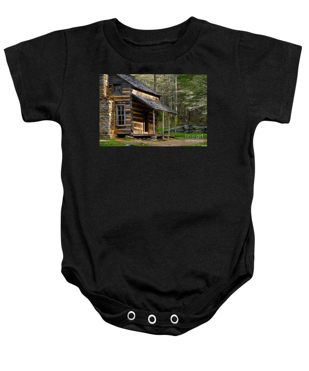 The Great Smokey Mountians National Park Baby Onesie featuring the photograph Spring In The Smokies by Tony Bazidlo