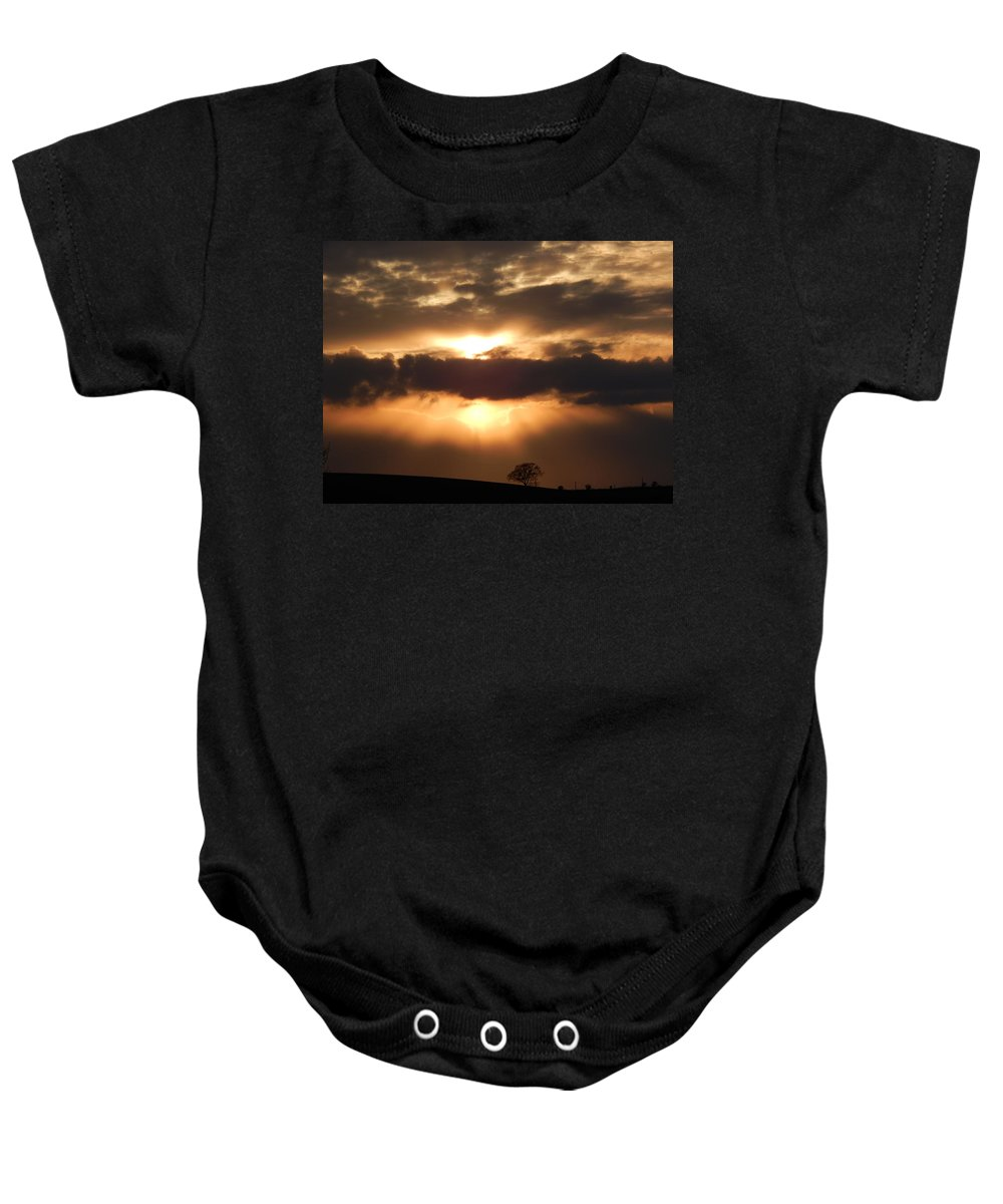 Sunset Baby Onesie featuring the photograph Spring Sunset by Susan Baker
