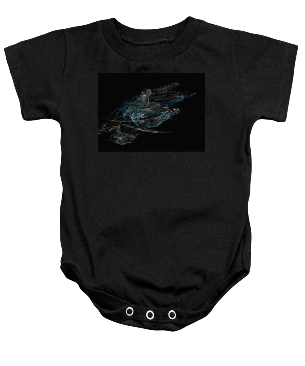 Abstract Digital Painting Baby Onesie featuring the digital art Sprint by David Lane