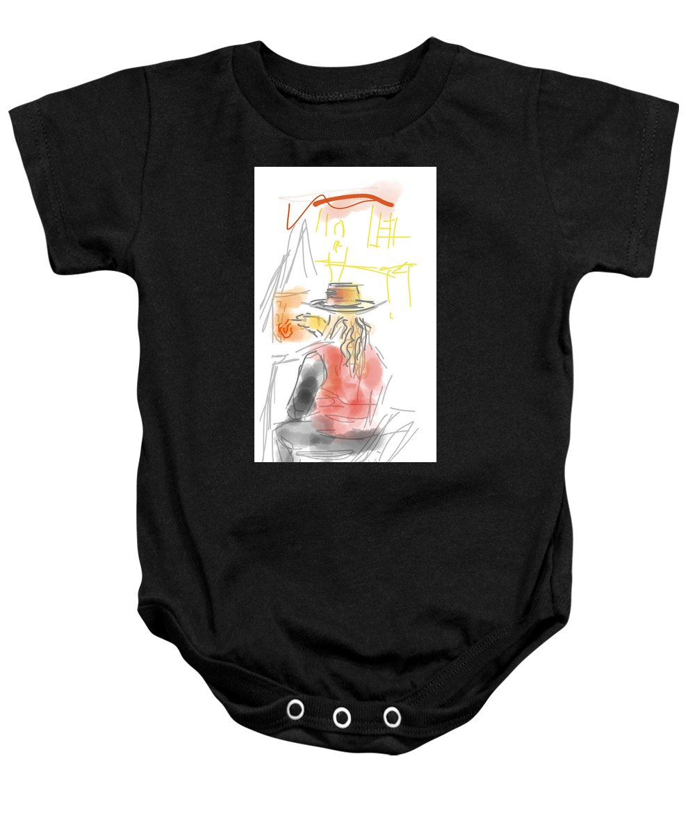 Contemporary Baby Onesie featuring the digital art Squiggleism by Robert Yaeger