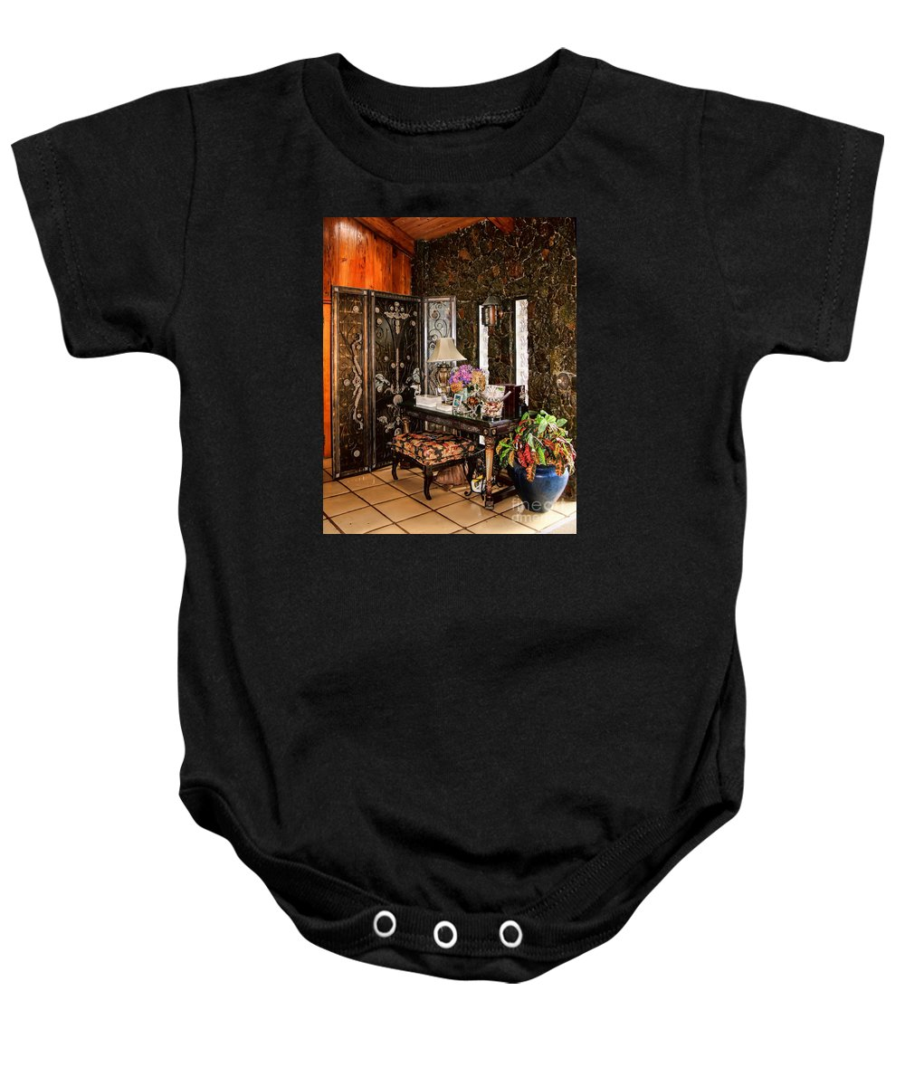 The Historic St. Peter Great House Baby Onesie featuring the photograph St. Peter Great House by Olga Hamilton