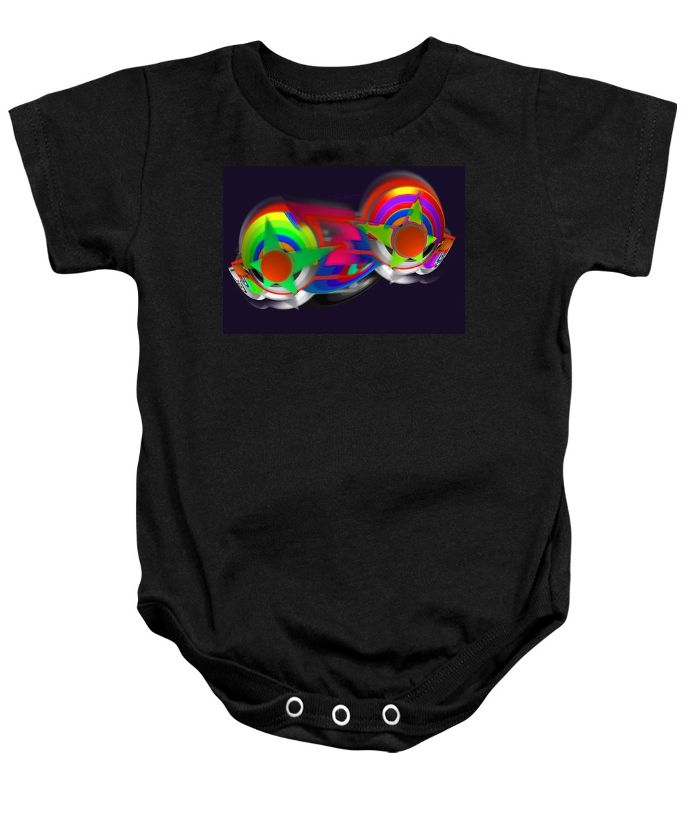 Brassiere Baby Onesie featuring the painting Stack by Charles Stuart