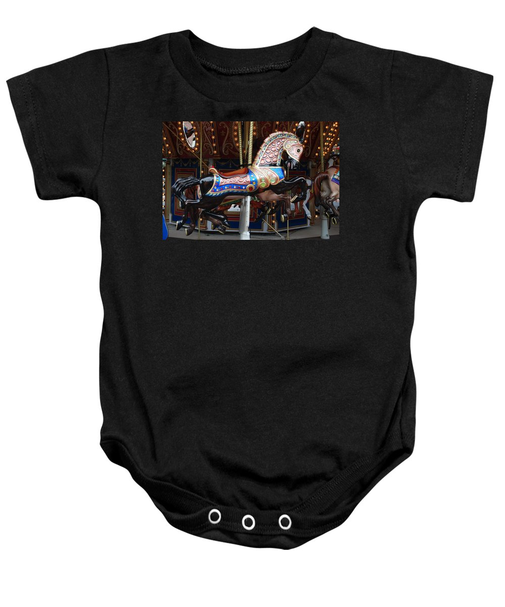 Pop Art Baby Onesie featuring the photograph Stallion by Rob Hans