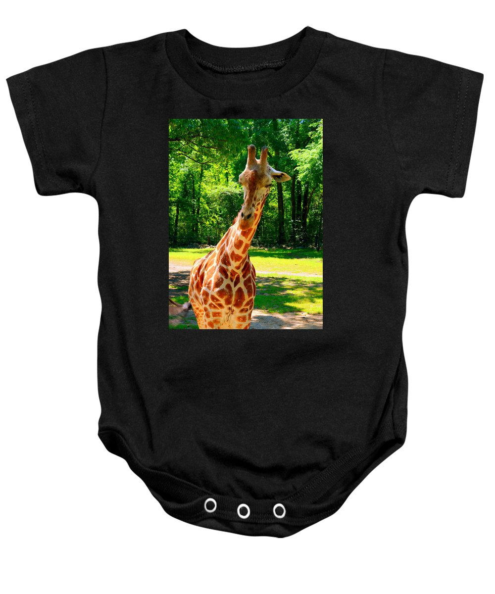 Standing Above The Rest Baby Onesie featuring the photograph Standing Above The Rest by Lisa Wooten