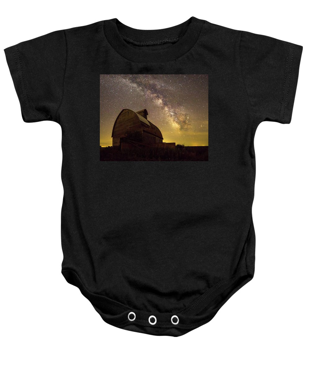Barn Baby Onesie featuring the photograph Star Barn by AllScapes Photography