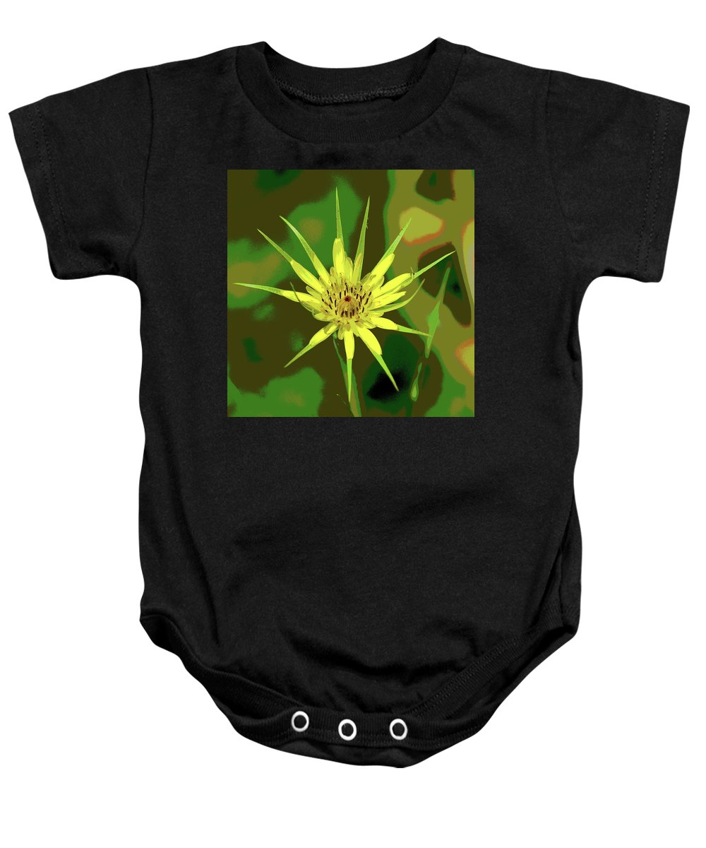 Nature Baby Onesie featuring the photograph Star Flower by Ben Upham III