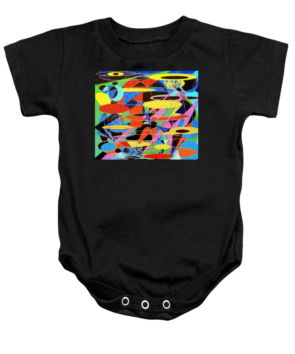 Abstract Baby Onesie featuring the digital art Star Wars by Ian MacDonald