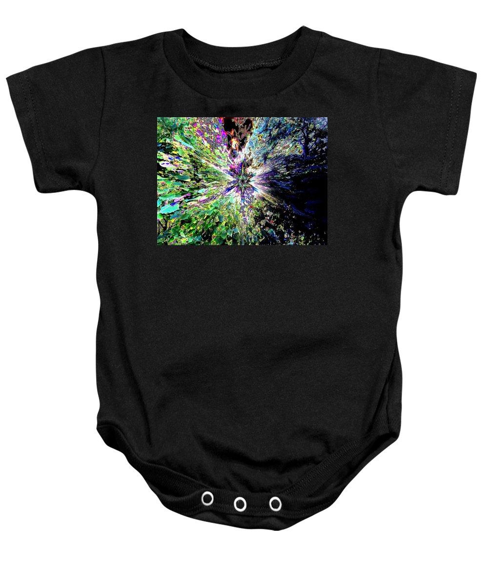 Starburst Baby Onesie featuring the digital art Starburst by Will Borden