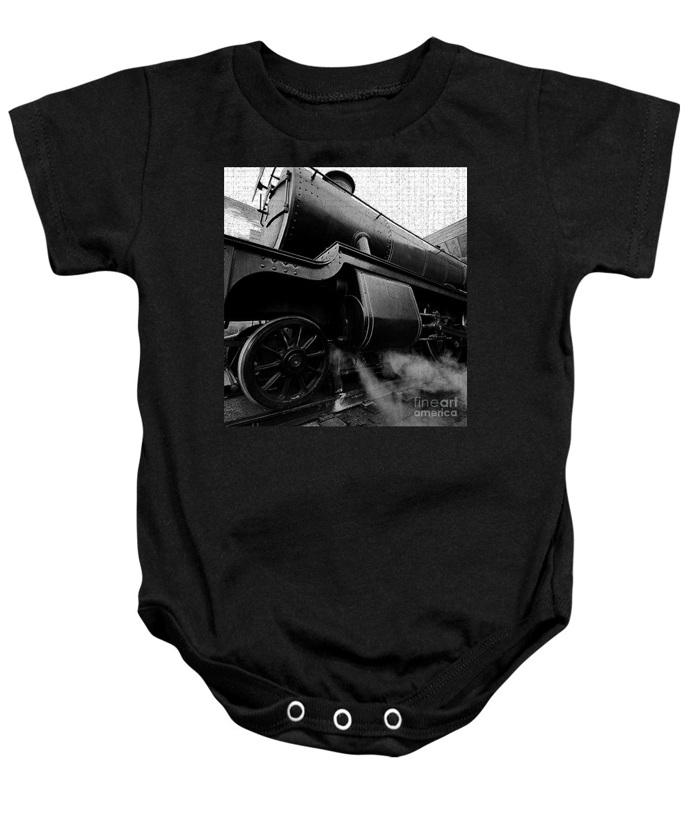 Steam Baby Onesie featuring the painting Steaming by David Lee Thompson
