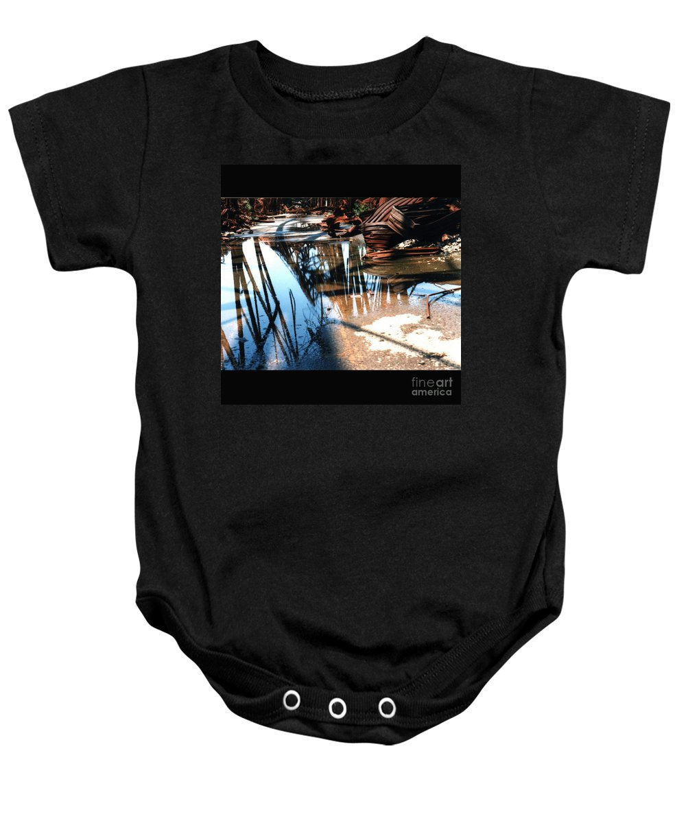 Cityscape Baby Onesie featuring the photograph Steel River by Ze DaLuz