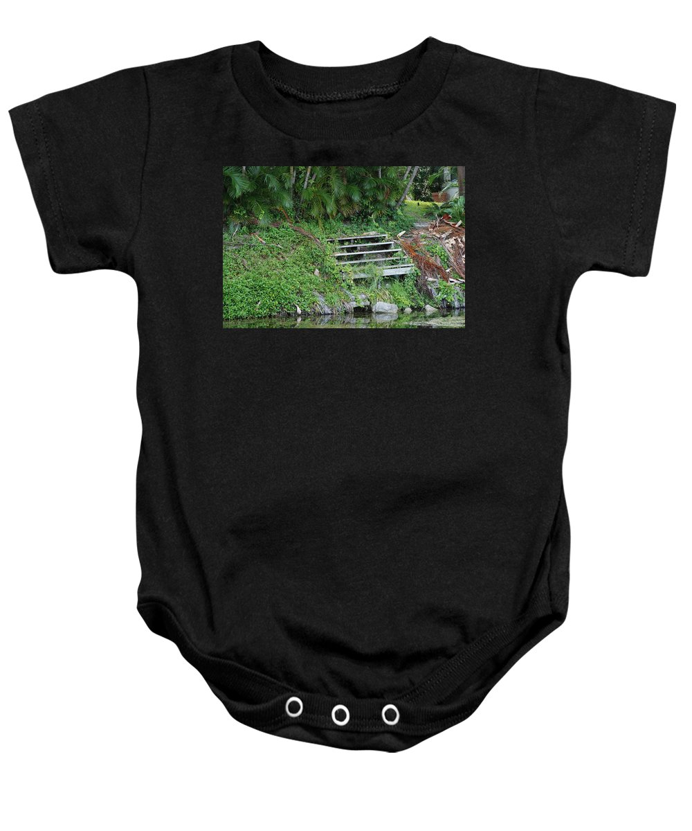Grass Baby Onesie featuring the photograph Steps In The Grass by Rob Hans