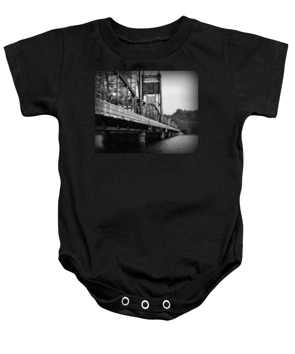 Bridge Baby Onesie featuring the photograph Stillwater Bridge by Perry Webster