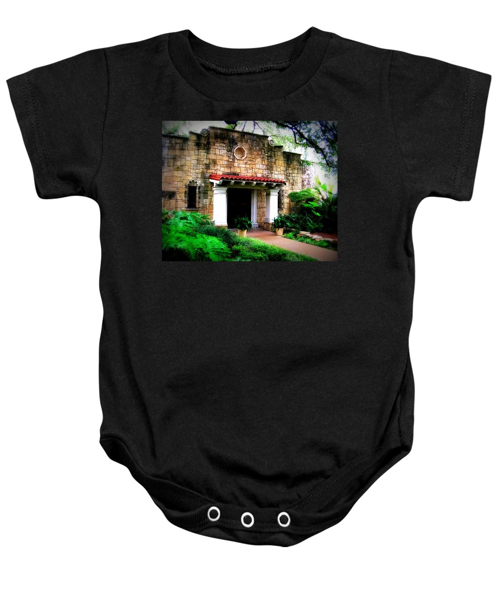 Stone Baby Onesie featuring the photograph Stone Entry by Perry Webster