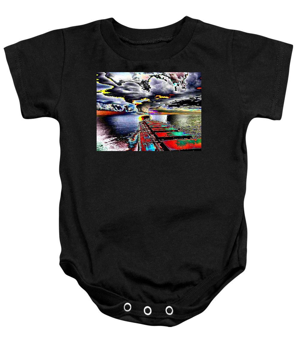 Storm Clouds Baby Onesie featuring the photograph Storm Warning by Tim Allen