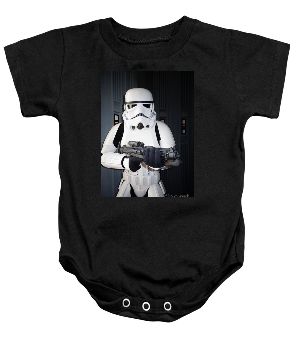 Star Wars Characters Baby Onesie featuring the photograph Stormtrooper by Nina Prommer
