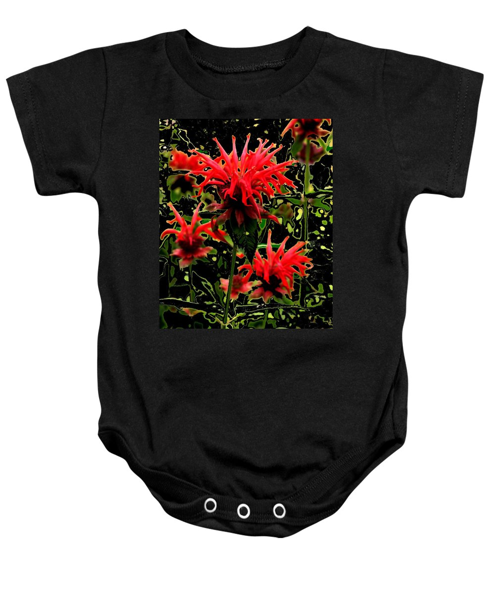 Abstract Baby Onesie featuring the photograph Strange Garden by Ian MacDonald