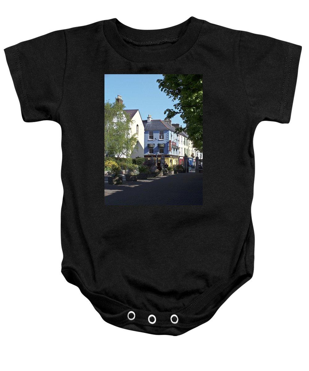 Irish Baby Onesie featuring the photograph Street Corner In Tralee Ireland by Teresa Mucha