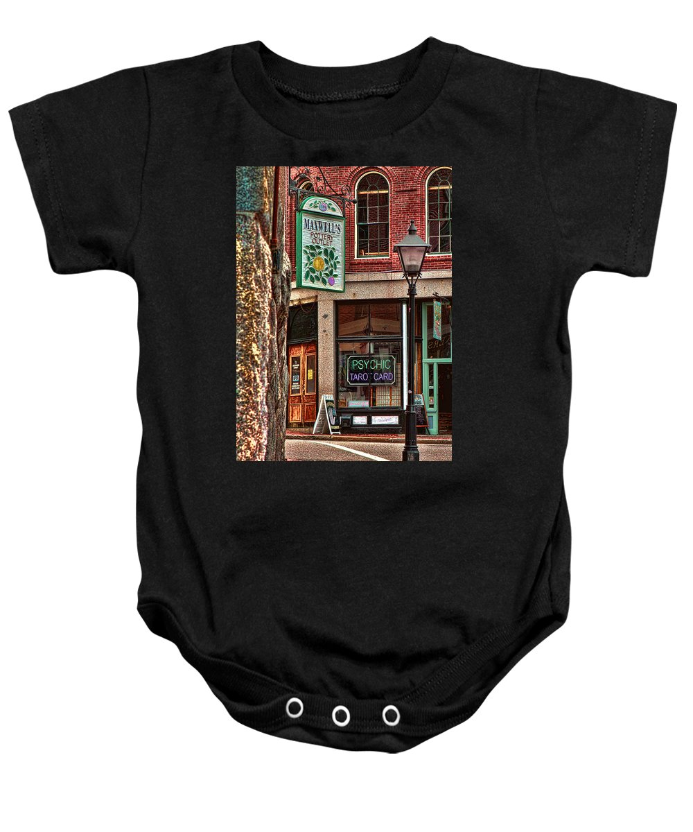 Maine Photo Baby Onesie featuring the photograph Street Signs Portland Maine by Tom Prendergast