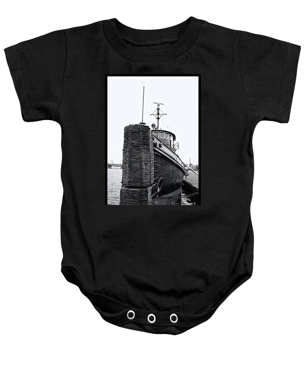 Tug Boat Baby Onesie featuring the photograph Sturgeon Bay Tug Boat by Tommy Anderson