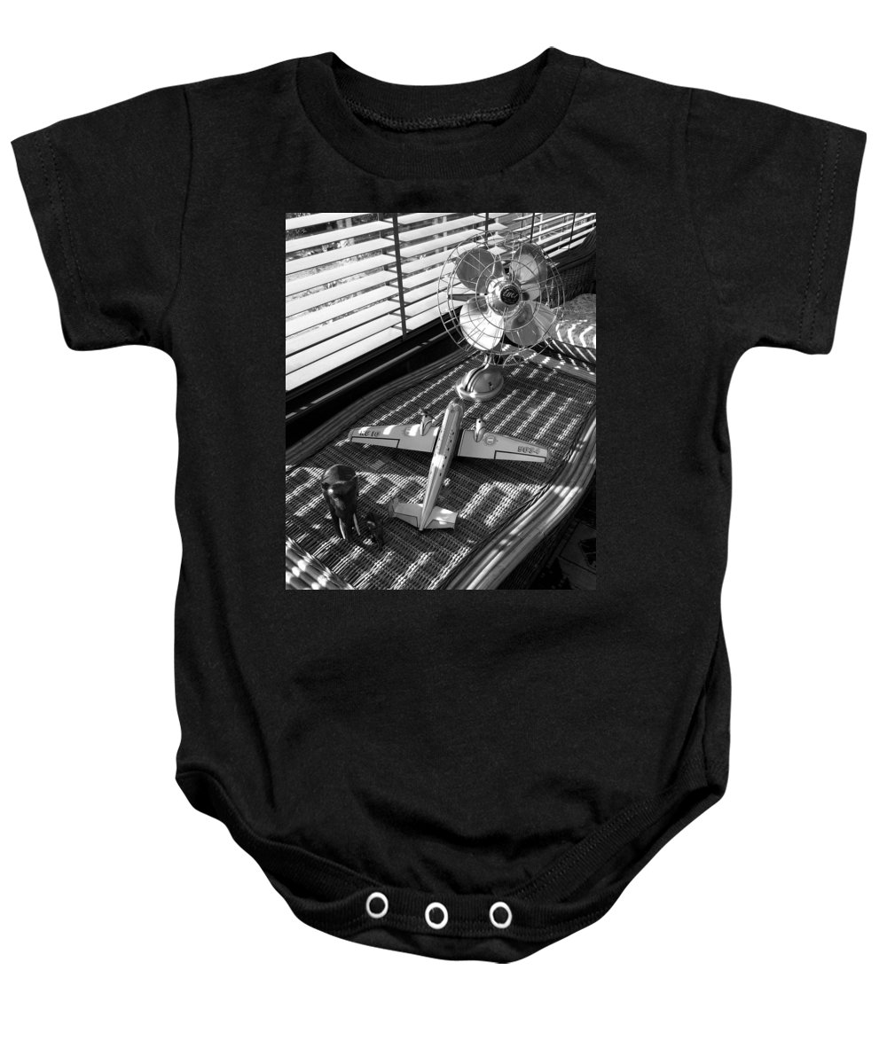 Still Life Baby Onesie featuring the photograph Suburban Runway by Charles Stuart