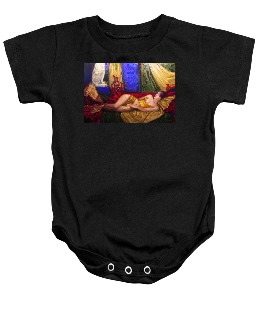 Art Baby Onesie featuring the painting Sultan Spouse by Sergey Ignatenko