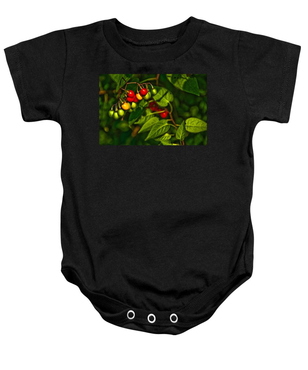 Berries Baby Onesie featuring the photograph Summer Berries by Onyonet Photo Studios