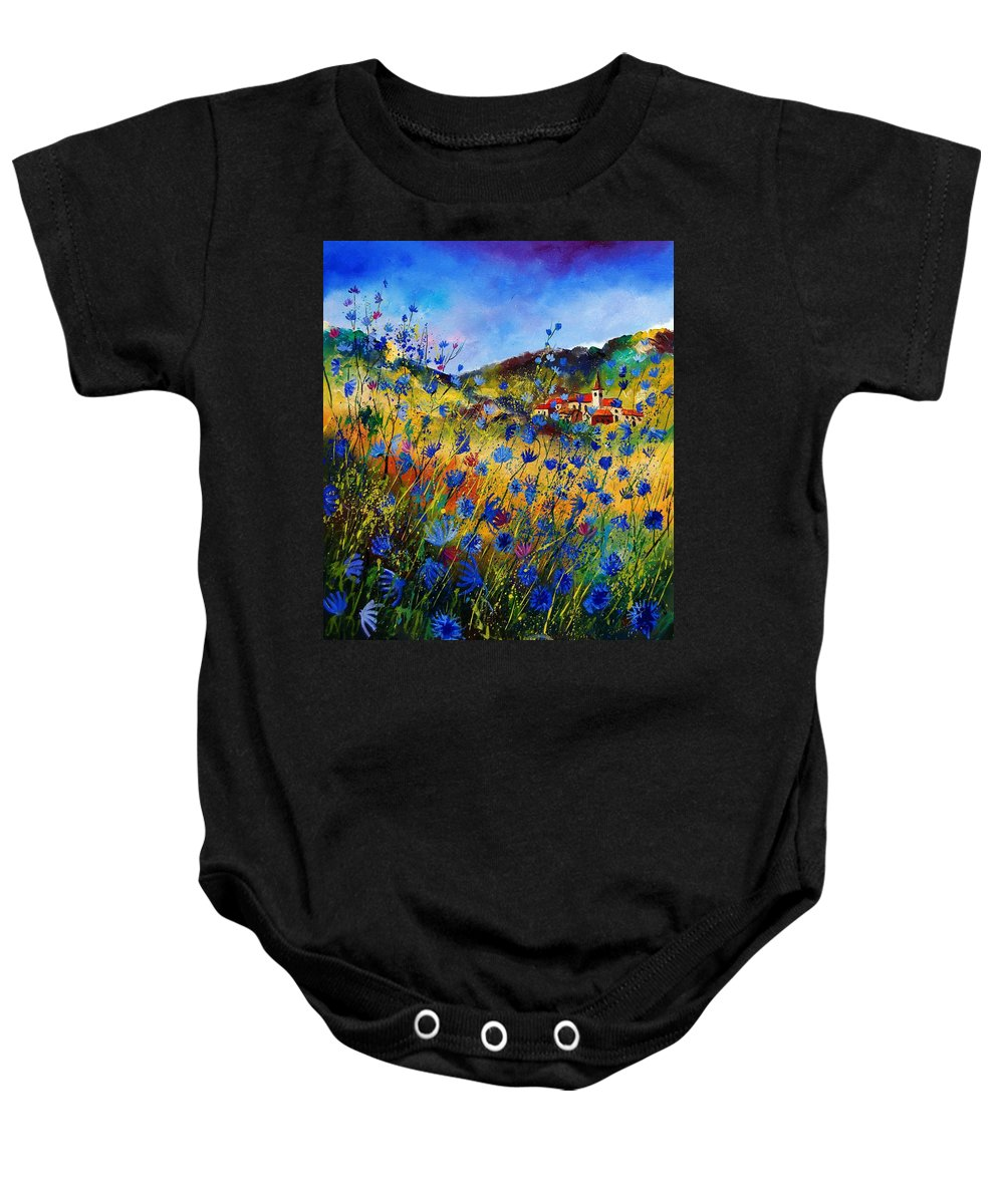 Flowers Baby Onesie featuring the painting Summer Glory by Pol Ledent