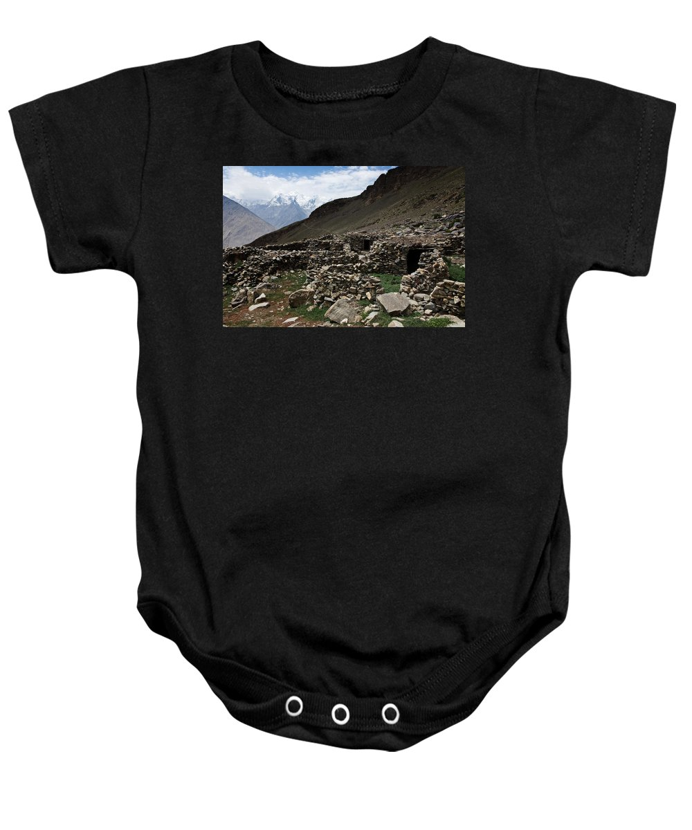Backpacking Baby Onesie featuring the photograph Summer Hut by Konstantin Dikovsky