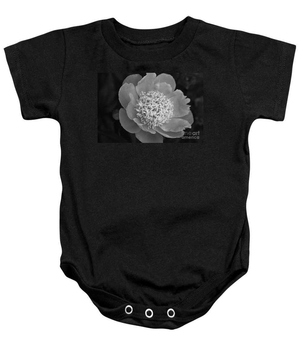 Peony Baby Onesie featuring the photograph Summer Peony by Kathy McClure