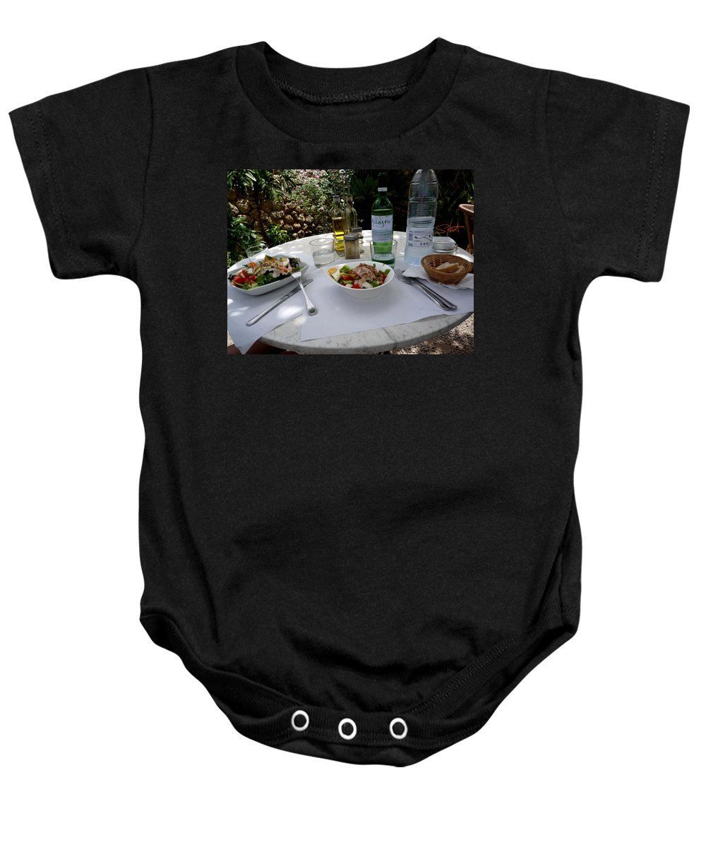 Lunch Baby Onesie featuring the photograph Summer Salad by Charles Stuart