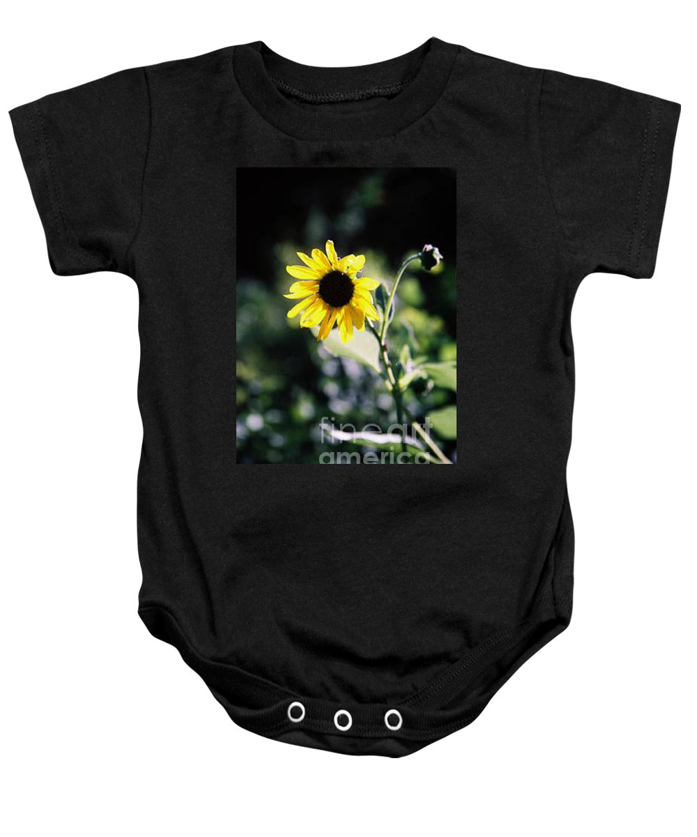 Sunflower Baby Onesie featuring the photograph Summer Sunshine by Kathy McClure