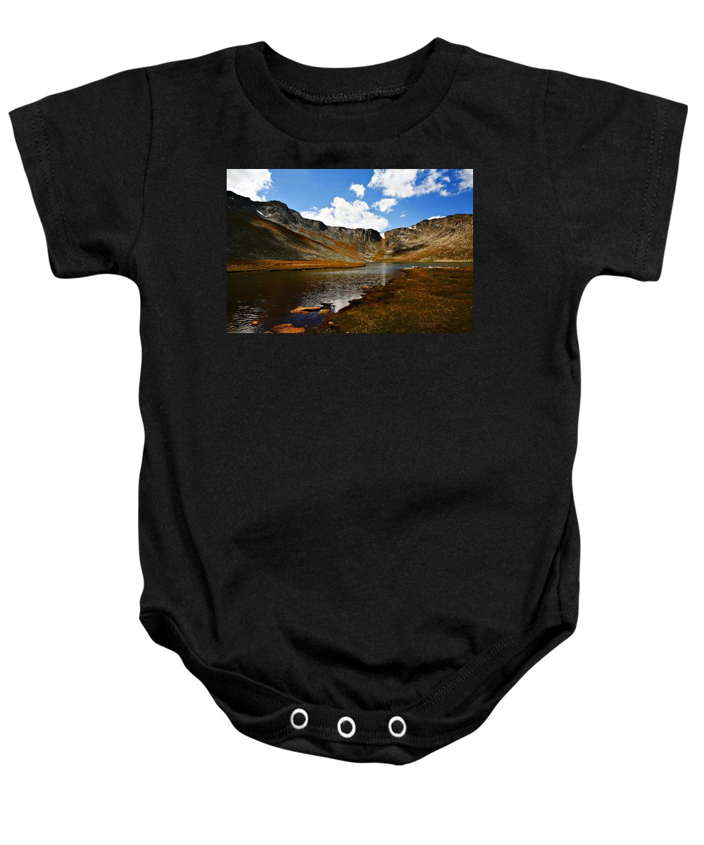 Travel Baby Onesie featuring the photograph Summit Lake Colorado by Marilyn Hunt
