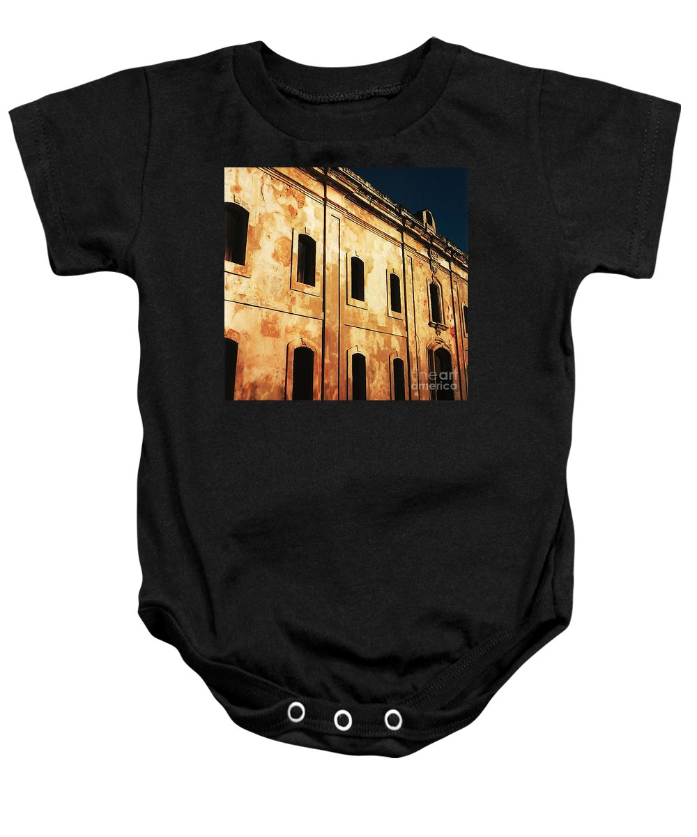 Buildings Baby Onesie featuring the photograph Sun Kissed by Jeff Barrett