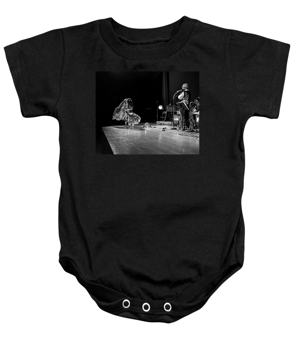 Jazz Baby Onesie featuring the photograph Sun Ra Arkestra At Freeborn Hall by Lee Santa