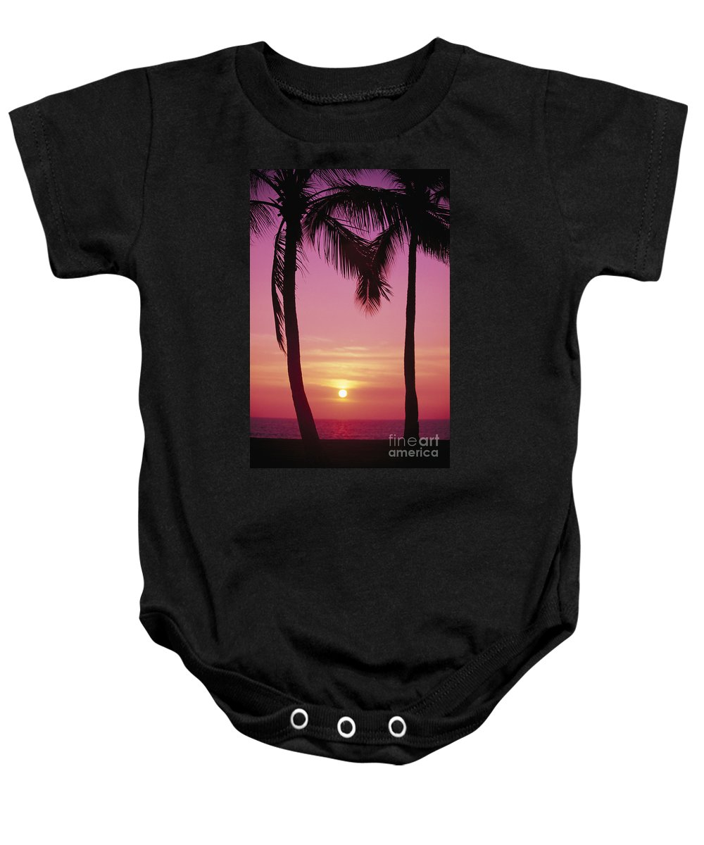 Amaze Baby Onesie featuring the photograph Sun Sets Between Pams by Carl Shaneff - Printscapes