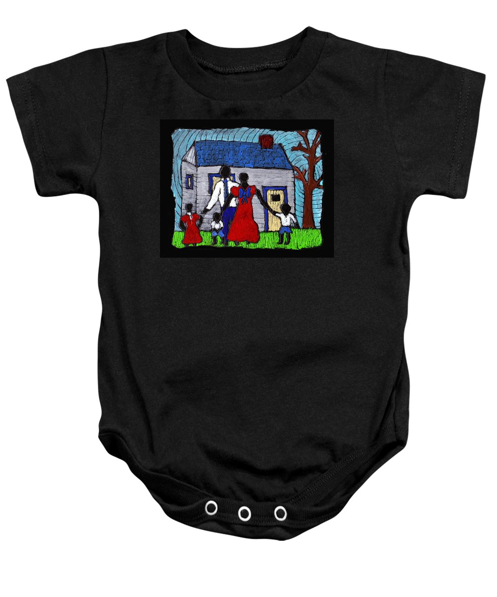 Family Baby Onesie featuring the painting Sunday Morning Finest by Wayne Potrafka