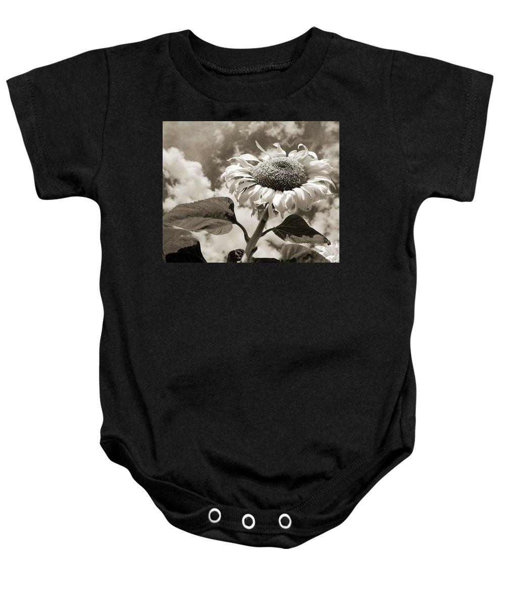 Sunflower Baby Onesie featuring the photograph Sunflower by Clay McGurk