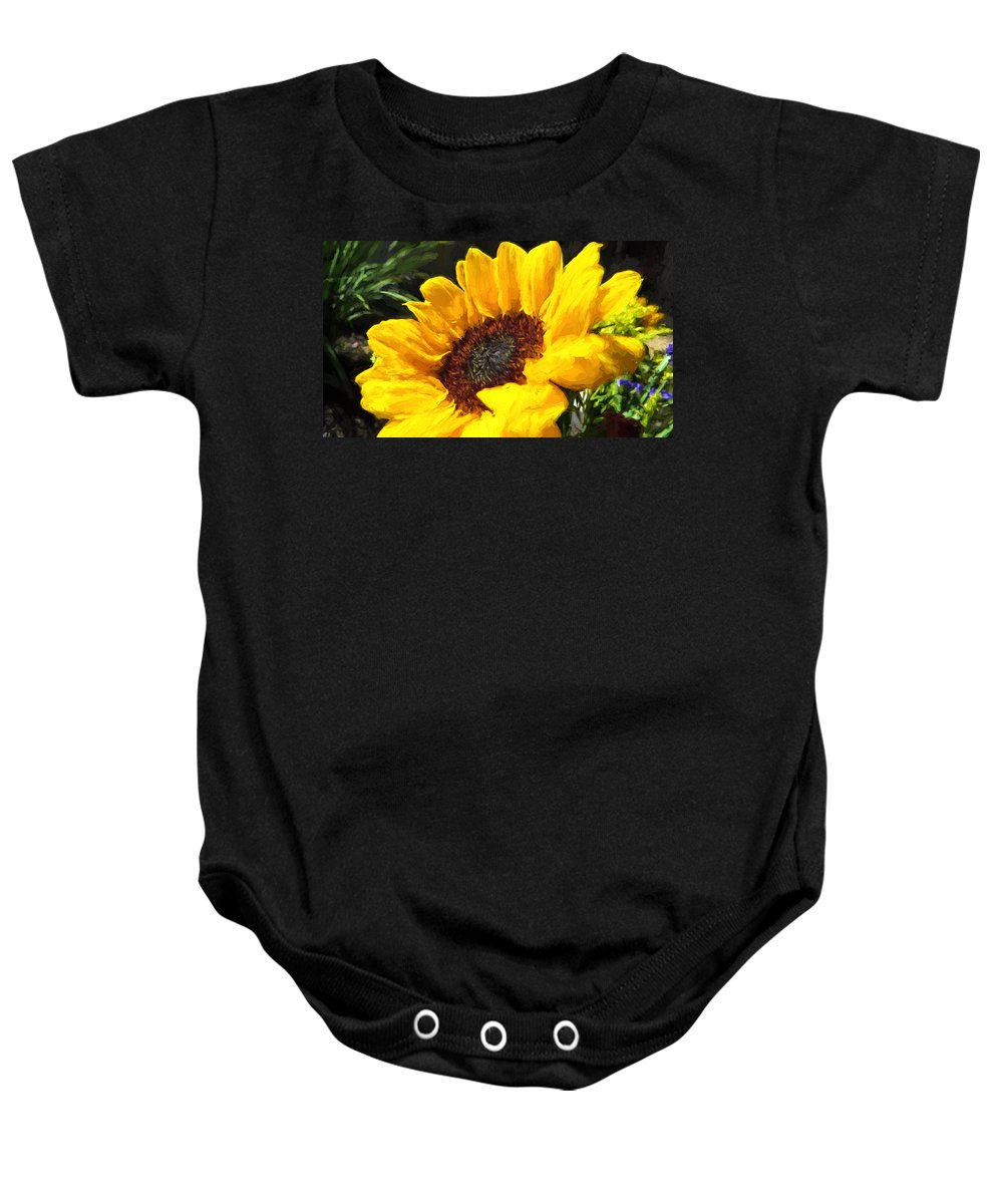 Sunflower Baby Onesie featuring the photograph Sunflower Impression by JG Thompson