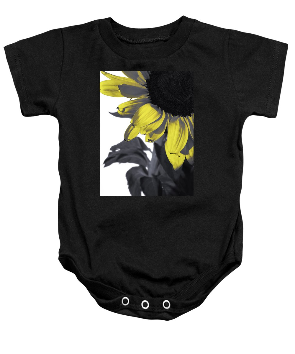 Sunflower Baby Onesie featuring the photograph Sunflower by Kelly King